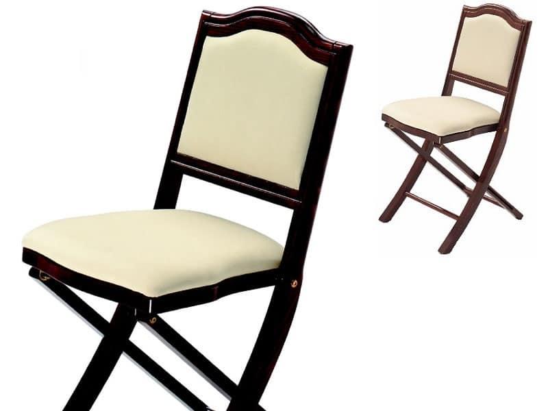 Sedia imbottita, pieghevole, dal design classico | IDFdesign
