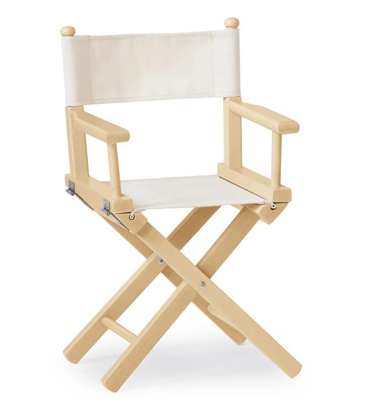 Sedia pieghevole in legno e tessuto per bambini idfdesign for Sedia design regista