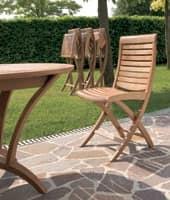 Mirage sedia pieghevole, Sedia pieghevole in legno, per uso esterno