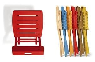 Sedia pieghevole in legno, vari colori  IDFdesign