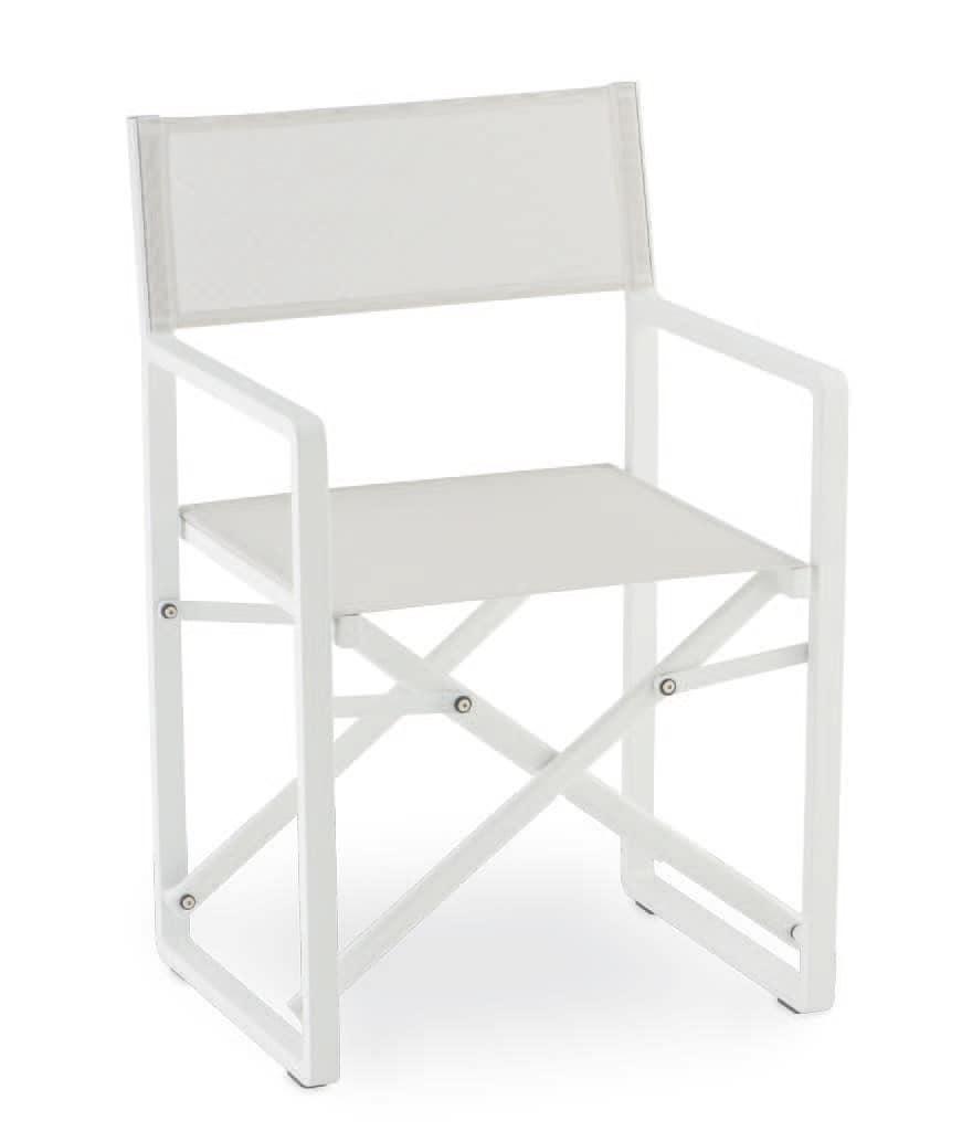 Sedia pieghevole in alluminio e textilene per esterni idfdesign - Sedie pieghevoli design ...