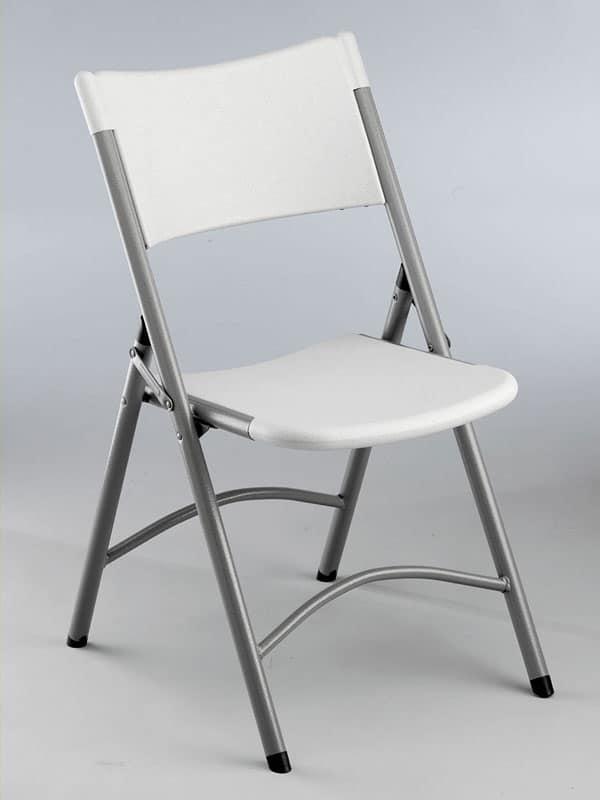 sedia pieghevole impilabile per esterno e ufficio