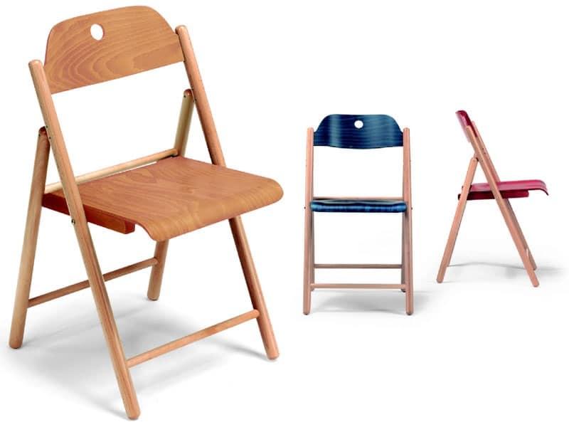 Sedie in legno, pieghevole, per uso contract | IDFdesign