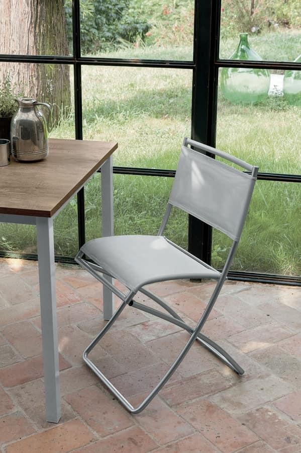 Sedia pieghevole con seduta in rete | IDFdesign