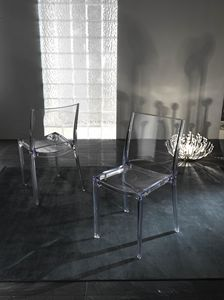 Art. 035 B-cristal, Sedia in policarbonato trasparente, impilabile