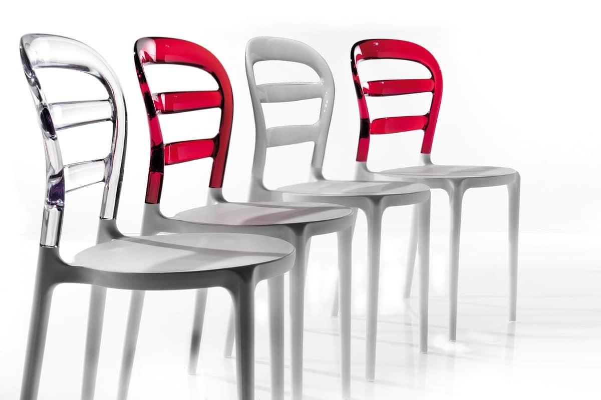 Sedia in plastica per cucina ed esterni idfdesign - Sedie plastica design ...