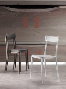 Art. 077 Corsocomo, Sedia dal design elegante, leggera ed impilabile