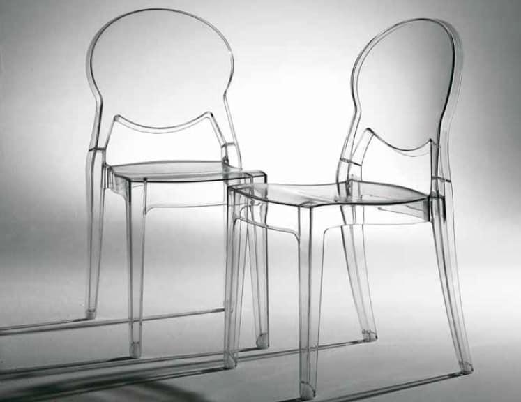 Sedie Di Plastica Trasparenti : Sedia trasparente impilabile anche per esterno idfdesign
