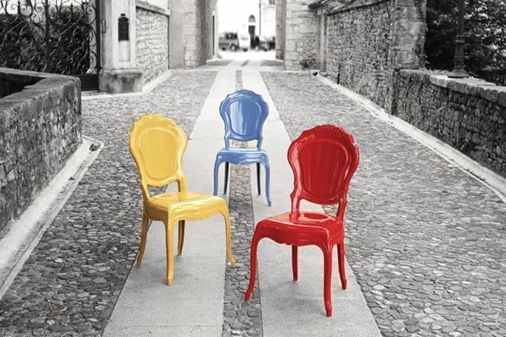 Sedia in policarbonato, disponibile in vari colori Vintage ...