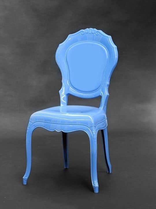 Sedia in policarbonato disponibile in vari colori vintage for Sedie design policarbonato