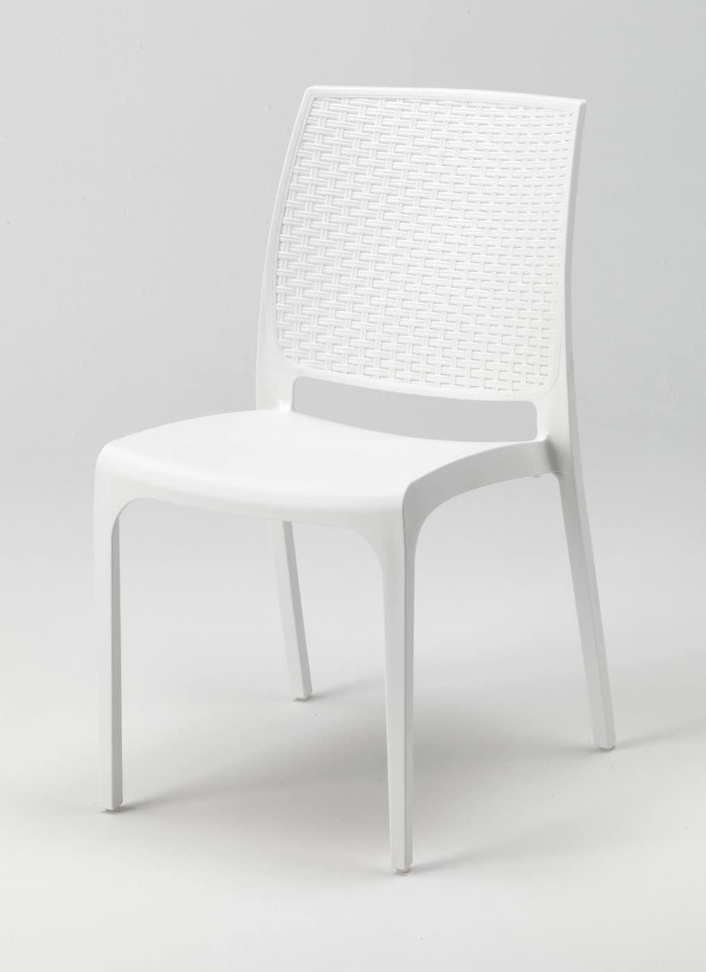 Sedia impilabile in plastica per esterni e giardini | IDFdesign