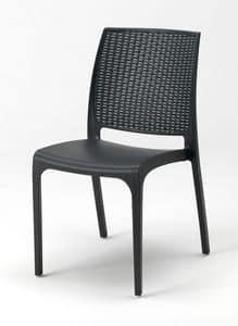 Sedia esterno resina Cross � CROSS25PZ, Sedia impilabile in plastica per esterni e giardini