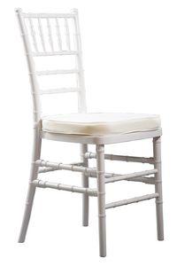 Eco-Chiavari, Sedie bianche impilabili per cerimonie