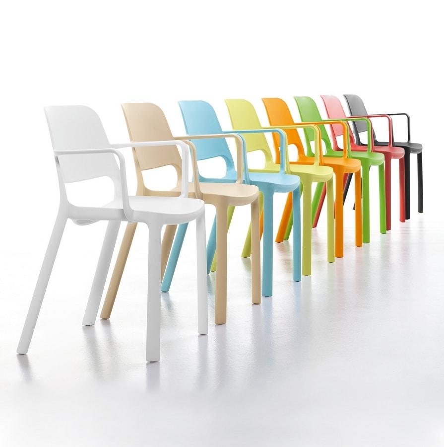 Elemens, Sedia in polipropilene, per spazi comuni