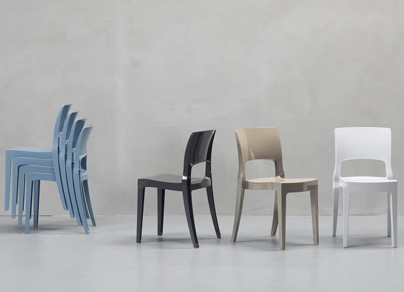 Sedie in plastica sedia design in impilabile diversi - Sedia tulip star ...