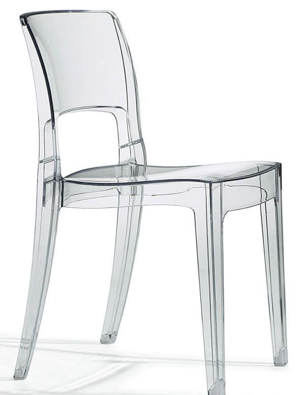 Sedia design in policarbonato impilabile diversi colori - Sedie design plastica ...