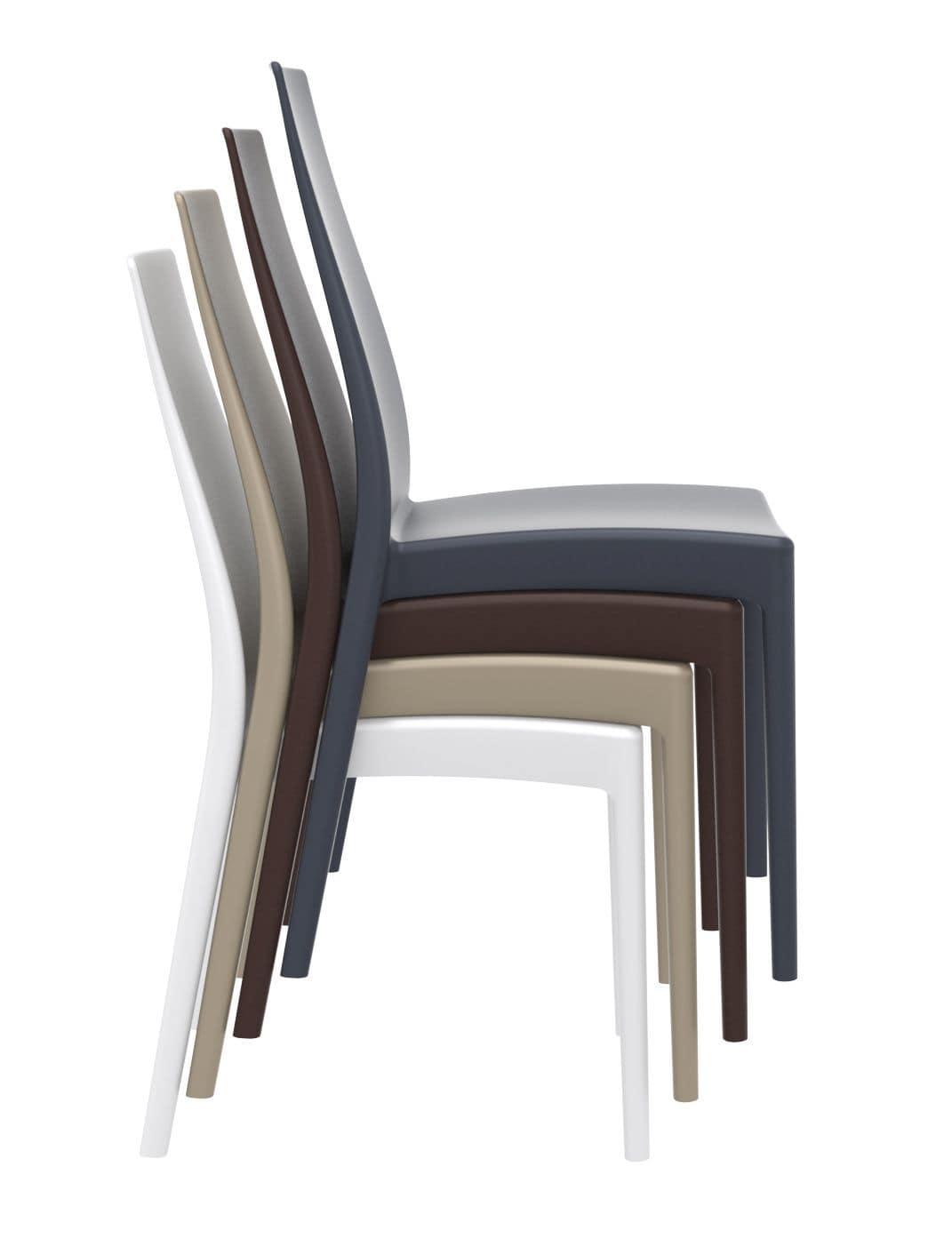 Sedia in polipropilene rinforzato resistente ai raggi uv - Sedie design plastica ...