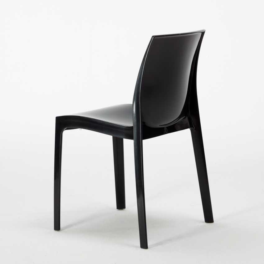 Sedia in plastica lucida impilabile ed economica disponibile in vari colori idfdesign - Sedie plastica design ...