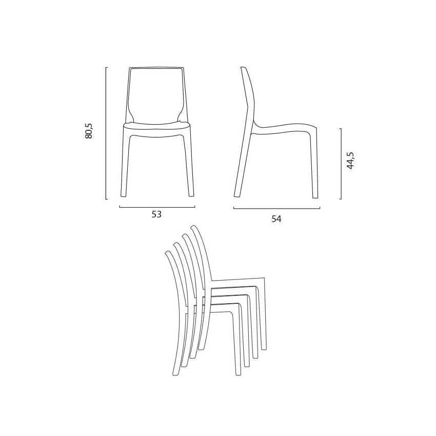 Sedie Trasparenti Seconda Scelta.Sedia Ignifuga Realizzata In Plastica Prima Scelta Impilabile