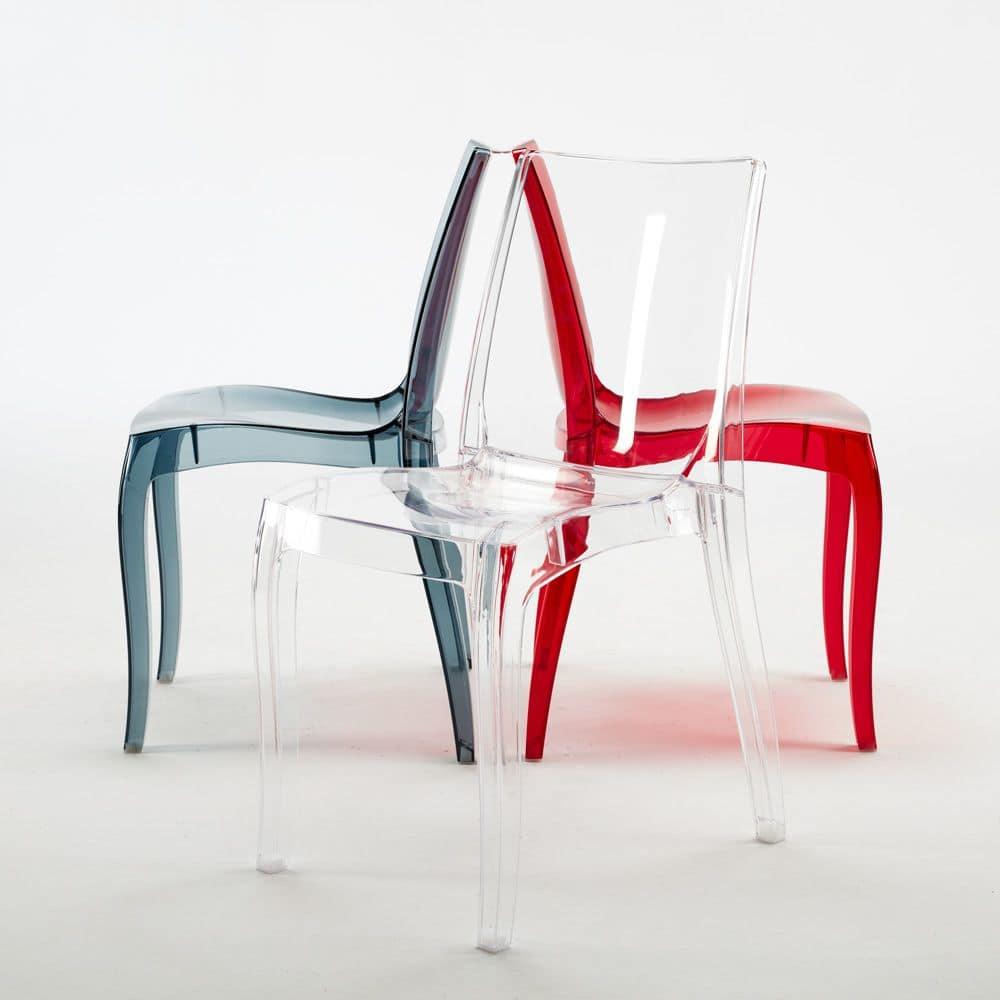 Sedia moderna realizzata in policarbonato per uso for Sedie bar economiche