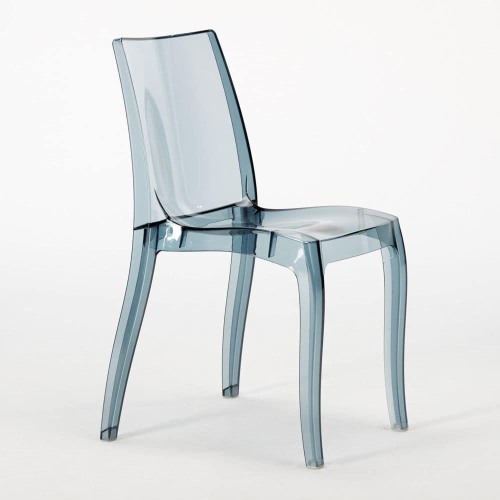 S6326tryl sedia moderna realizzata in policarbonato per for Sedia design srl