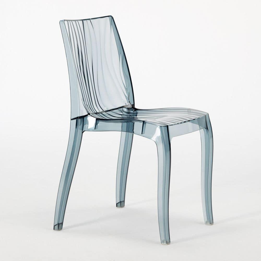 Sedia impilabile in policarbonato lucido per uso interno for Amazon sedie soggiorno