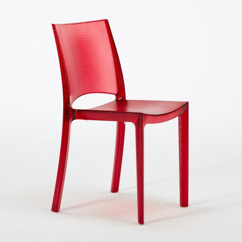 Sedia in plastica impilabile made in italy idfdesign for Sedie plastica moderne