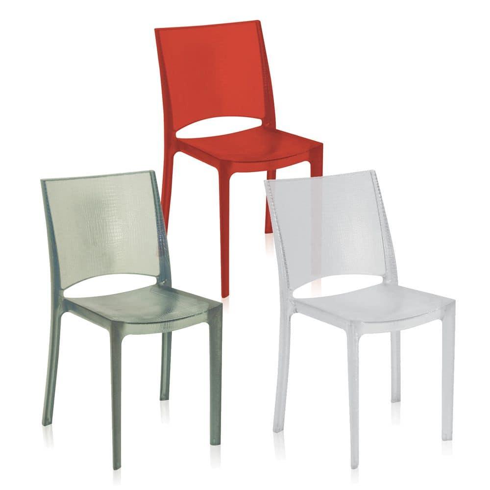 Sedia in plastica impilabile made in italy idfdesign for Sedie plastica