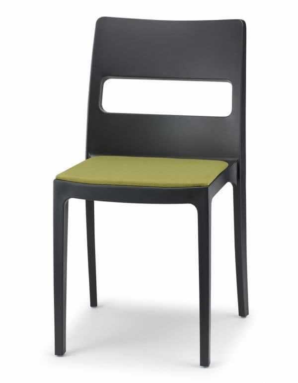 Sai/CU, Sedia in polipropilene con cuscino
