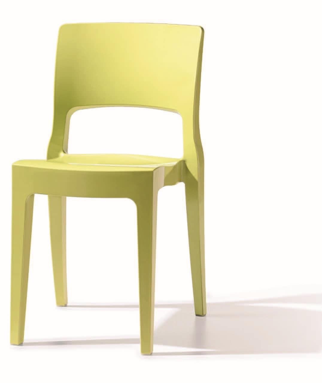 SE 2327, Sedia in tecnopolimero ideale per bar alla moda