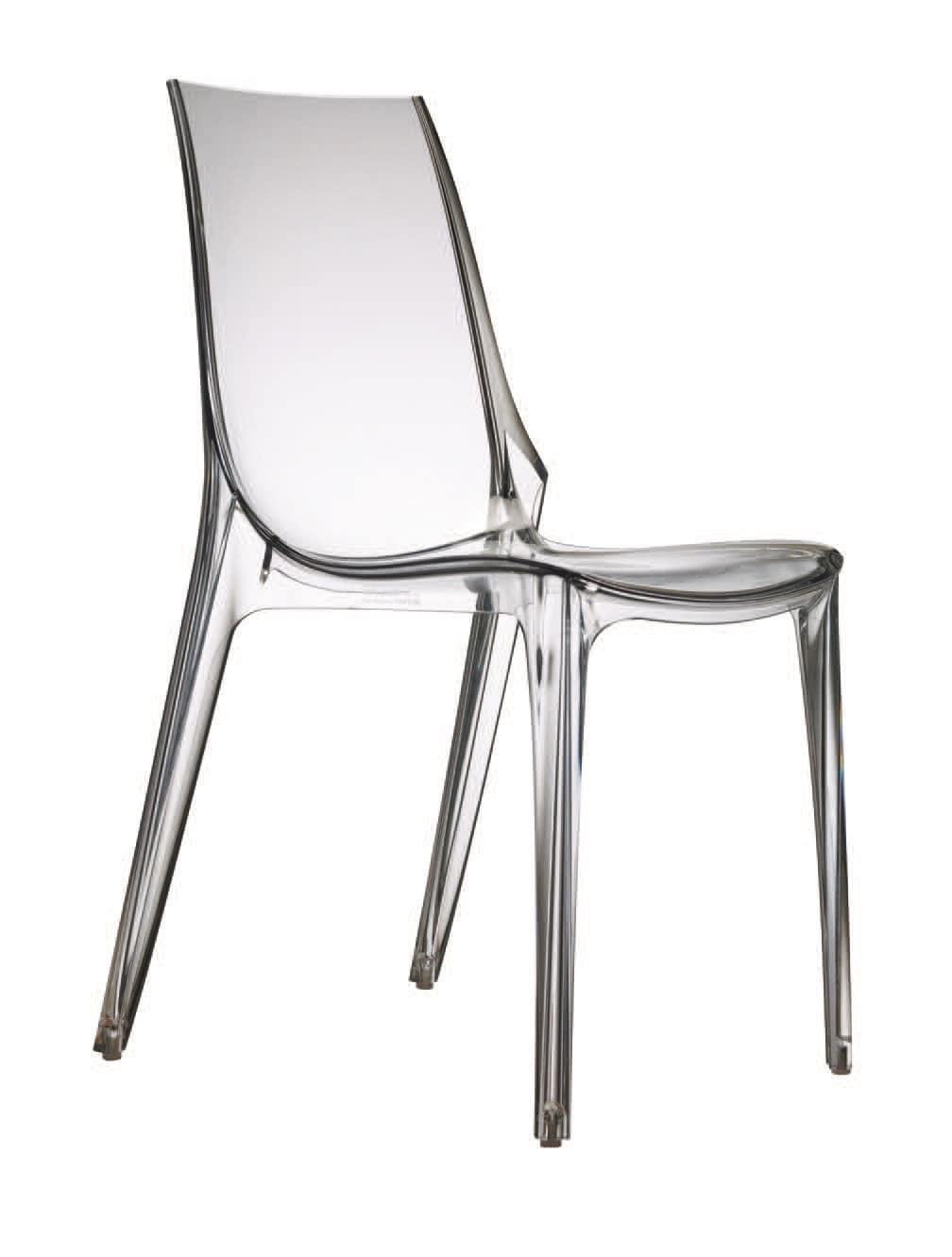 Sedia in policarbonato con piedini antiscivolo | IDFdesign