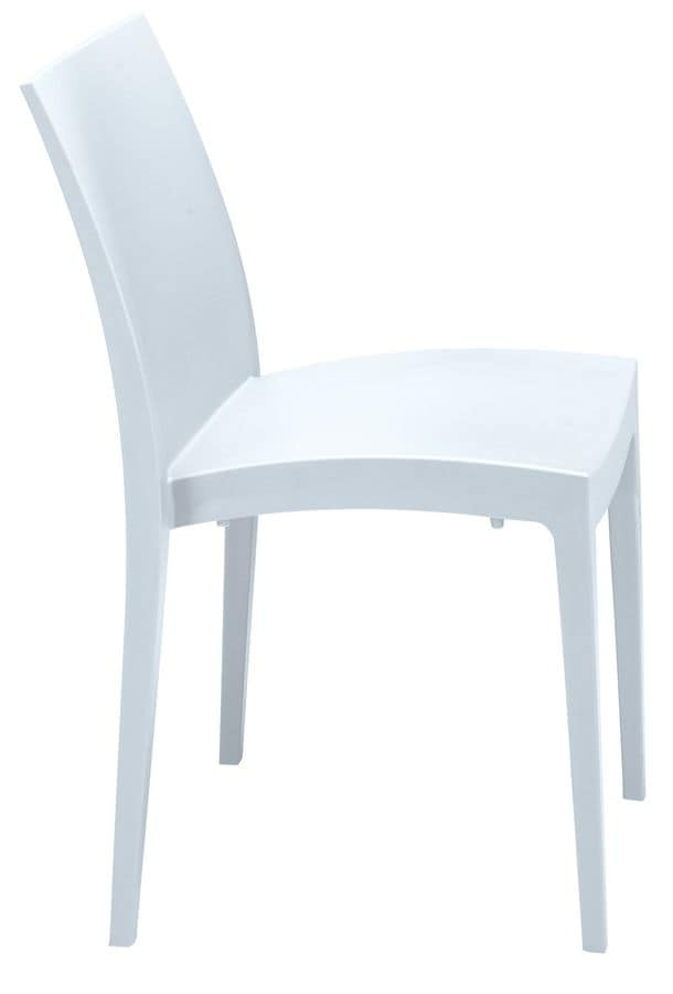 Sedie Di Plastica Per Esterno.Sedia In Plastica Di Vari Colori Per Esterni E Bar Idfdesign