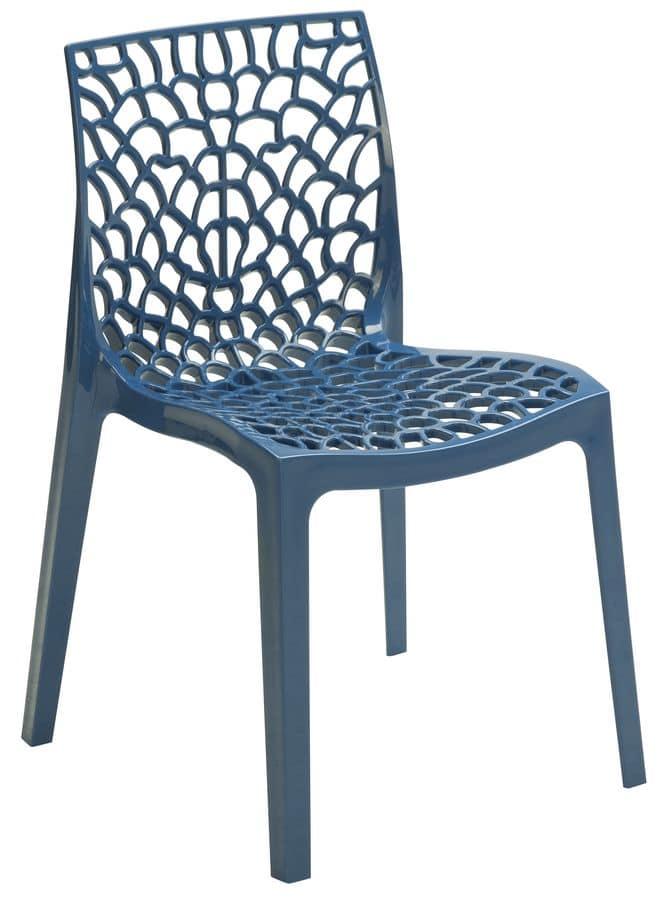 Sedia in polipropilene forato per bar e ristoranti idfdesign - Sedie plastica design ...