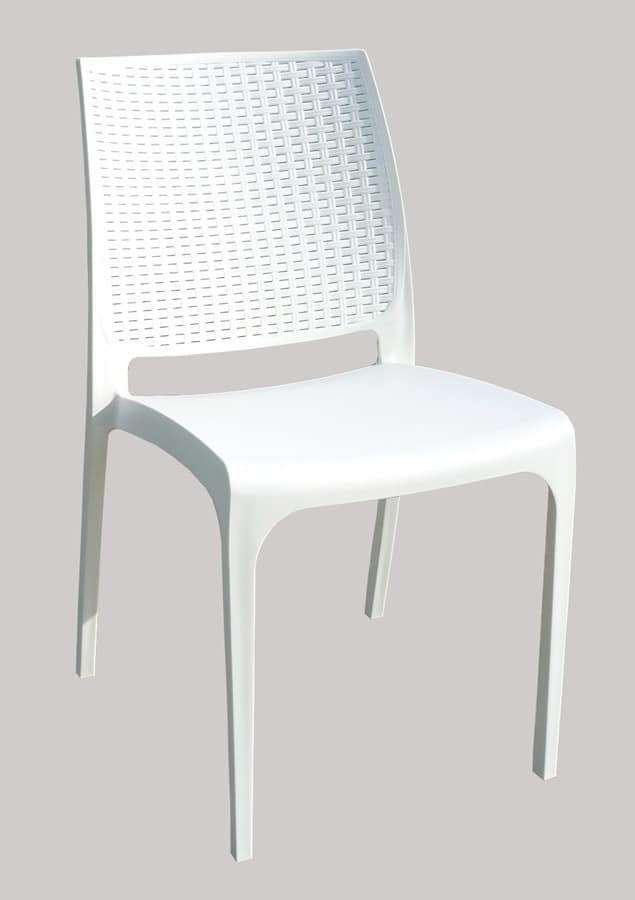 Sedia da bar in polyrattan impilabile per esterni for Sedia design amazon