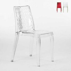 Sedia interno design trasparente Hypnotic - S6319, Sedia in policarbonato trasparente, per esterni