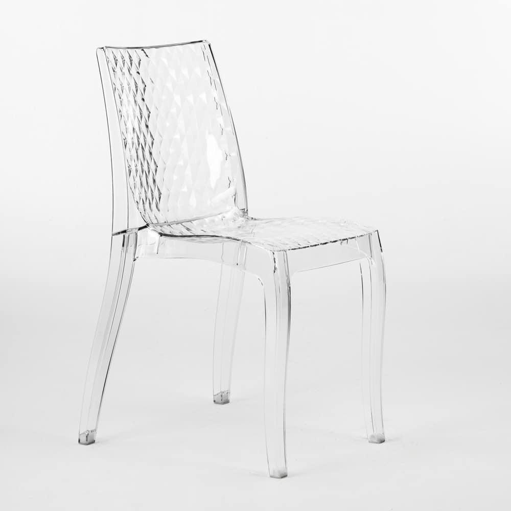 Sedia in policarbonato trasparente, per esterni | IDFdesign