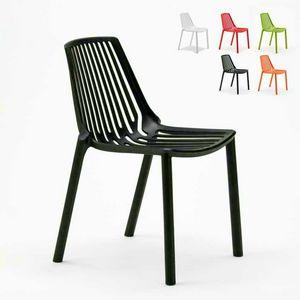 Sedie esterni ed interni per bar ristorante e giardino impilabile in polipropilene Design LINE - SL677PP, Sedia impilabile per esterni