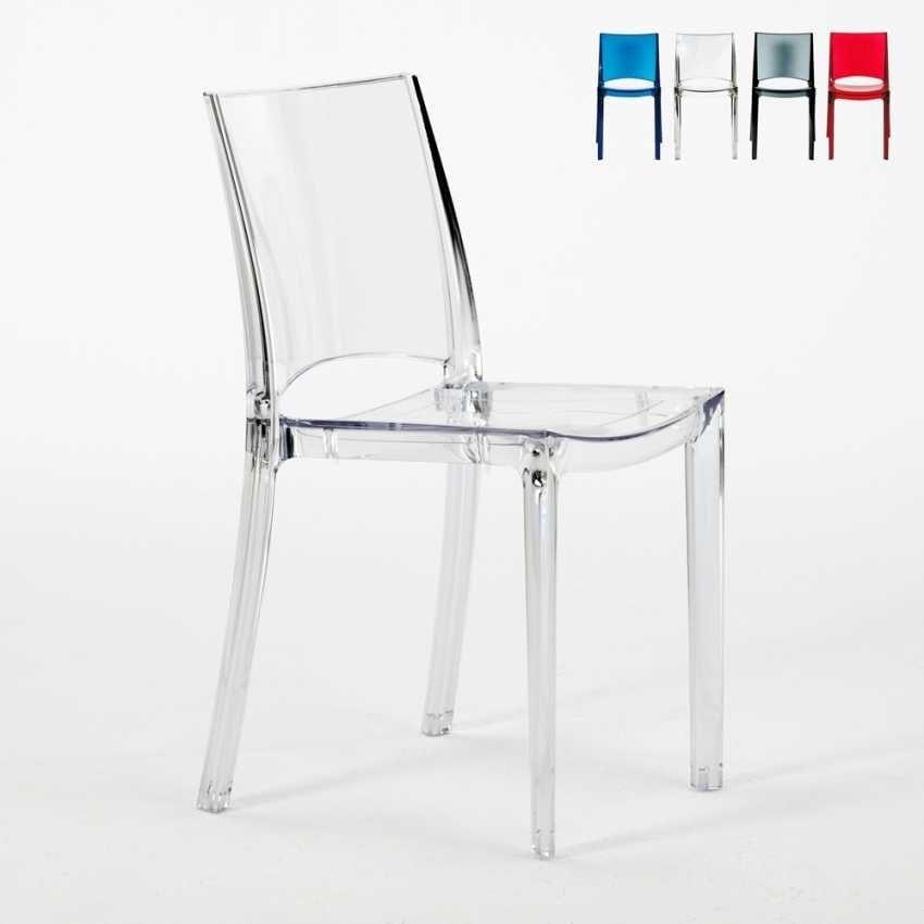 Sedia in plastica trasparente per cucina e bar | IDFdesign
