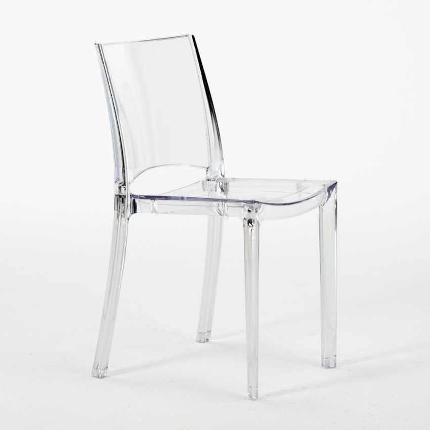 Sedia in plastica trasparente per cucina e bar   IDFdesign