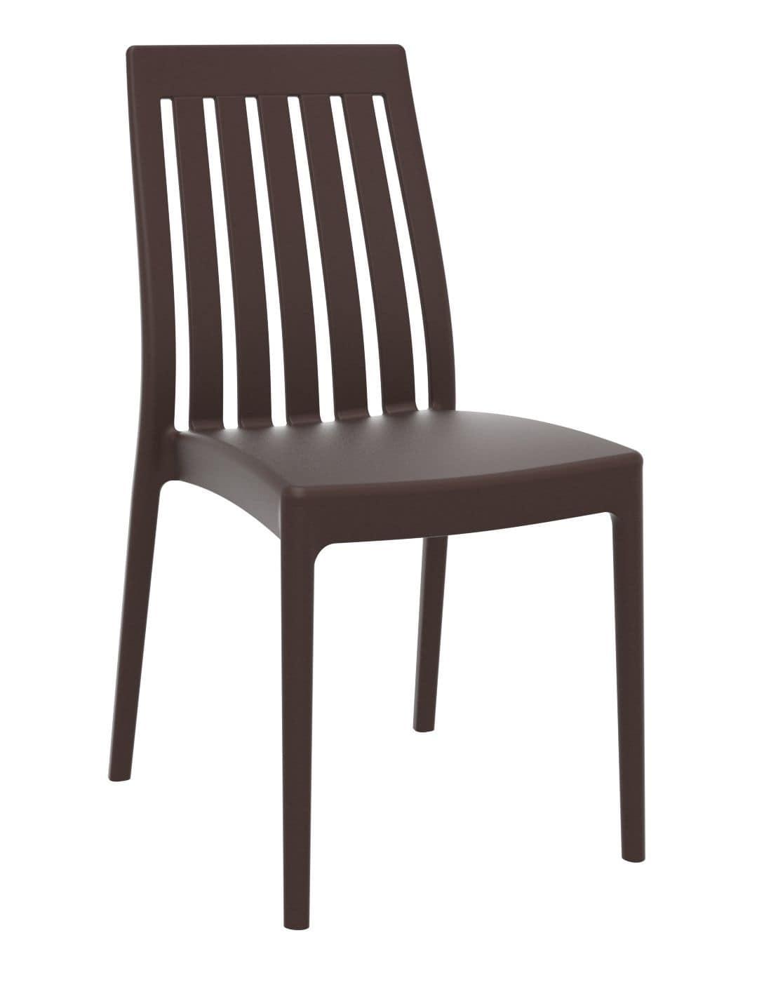 Sedia in polipropilene per interni ed esterni impilabile - Sedia polipropilene impilabile ...