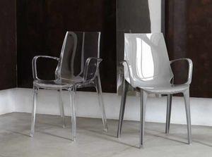 Valery-P, Sedia in plastica con braccioli, per esterni
