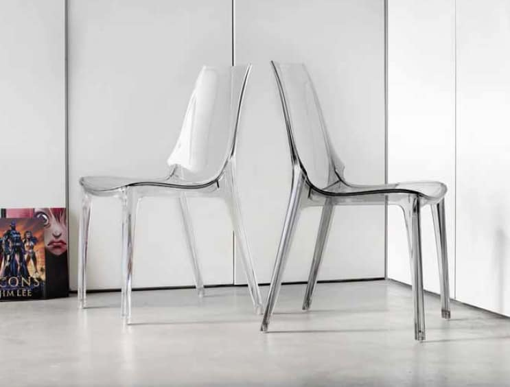 Sedie Di Plastica Trasparenti : Sedia in plastica trasparente o lucida idfdesign