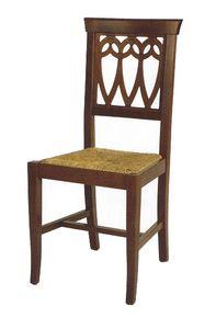 104, Sedia rustica, con seduta personalizzabile