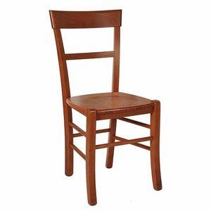 109, Sedia rustica con seduta in legno