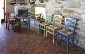 806, Sedia rustica con seduta in paglia, in vari colori