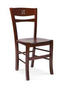 811 L, Sedia rustica in legno, per taverne e trattorie