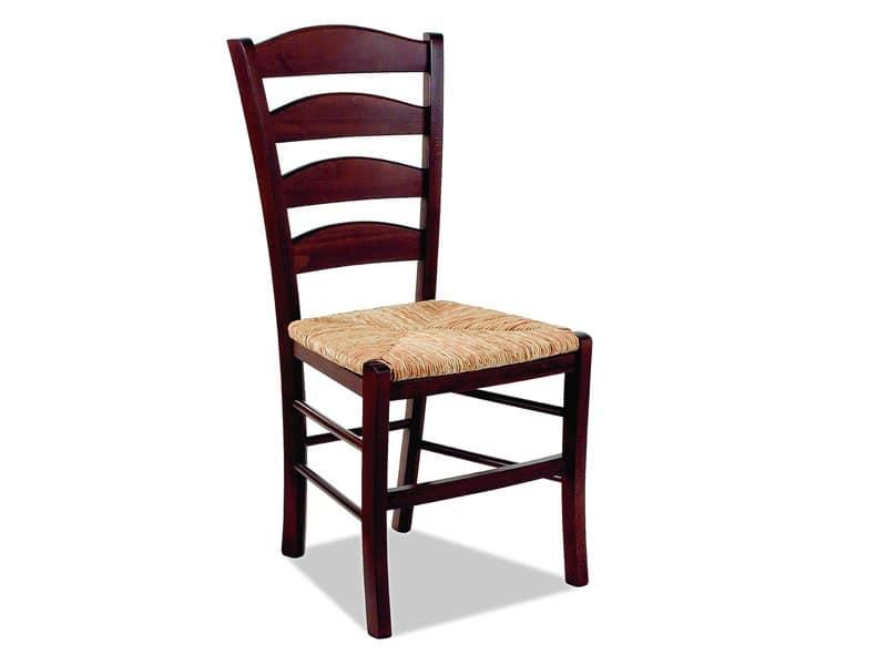 Antica 493 sedia legno naturale snack bar idfdesign for Sedie design legno naturale
