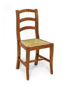 Art.107, Sedia rustica in legno e paglia