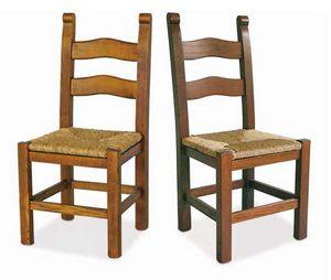 Bassano, Sedia in legno con seduta in paglia
