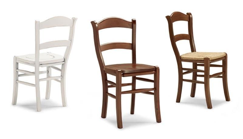 Sedia rustica in legno di faggio per taverne e cantine for Sedie legno per cucina